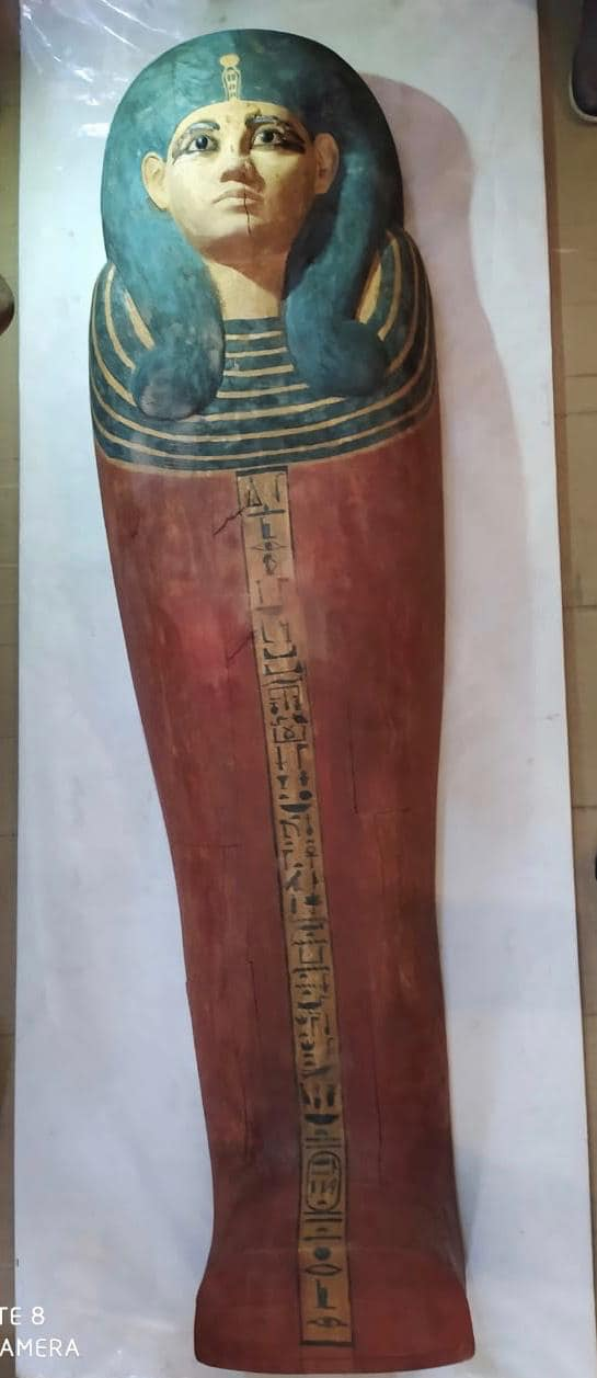 One of the royal sarcophaguses          transferred to the NMEC - Egyptian Min. of Tourism &          Antiquities