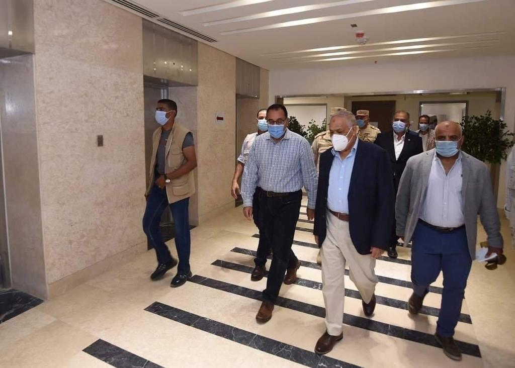 Prime Minister Mostafa Madbouli in a visit to the New Administrative Capital on September 19, 2020. Press Photo