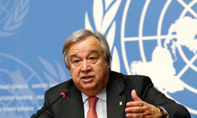 FILE- UN Secretary-General António Guterres