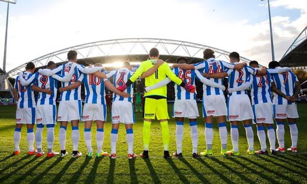 Huddersfield Town team - courtesy of Huddersfield Town Official Facebook page