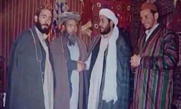 A photograph showing the father of the Manchester Arena bomber and Islamist Libyan commander Abdel Hakim Belhaj meeting the Taliban in the 1990s – The National