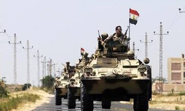 File- Egyptian army near AI-Arish in the sinai peninsula - Reuters
