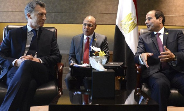 Egyptian President's meeting with his Argentinean counterpart at G20 Summit in China 2016 – alPatagonico