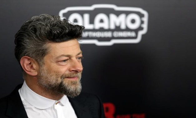 """Actor Andy Serkis is seen on the red carpet at a screening of """"War for the Planet of the Apes"""" in Manhattan, New York, U.S., July 10, 2017."""