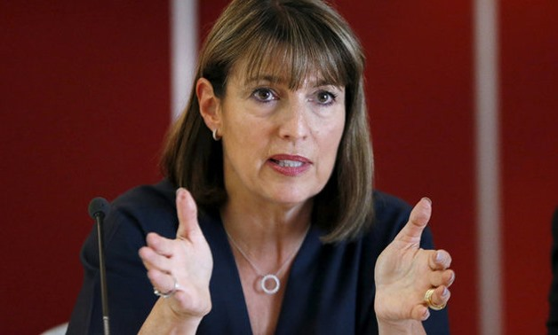 EasyJet Chief Executive Officer Carolyn McCall speaks at a joint news conference with International Airlines Group Chief Executive Officer Willie Walsh, Air France-KLM Chief Executive Officer Alexandre de Juniac, Lufthansa Chief Executive Officer Carsten