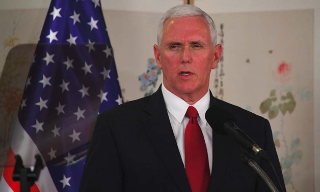 US Vice President Mike Pence speaks during a press conference. PHOTO: JUNG Yeon-Je / AFP