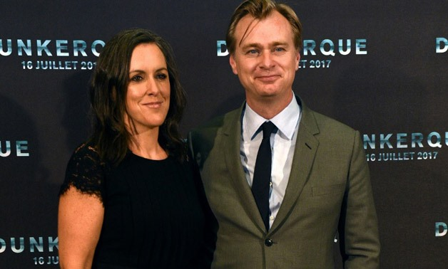 British-American film director Christopher Nolan, seen here with his film producer wife Emma Thomas, seeks the 'ecstatic truth' in the new film 'Dunkirk' - AFP/FRANCOIS LO PRESTI