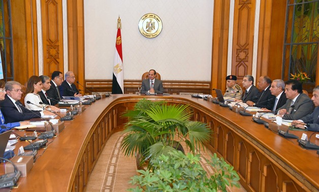 The meeting of the Supreme Council for the peaceful uses of nuclear energy headed by President Abdel Fattah Al-Sisi - Press Photo