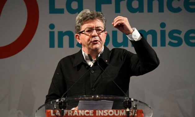 Anne-Christine Poujoulat, AFP | Jean-Luc Melenchon addresses the press and his supporters in Marseille on 18 June 2017 - Reuters