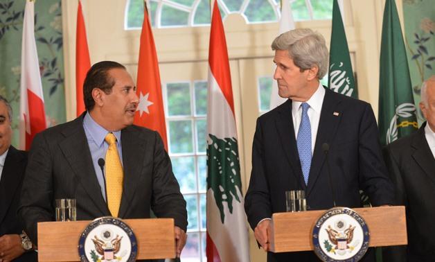 Former Secretary Kerry and and Former Qatari Prime Minister Sheikh Hamad bin Jassim- Wikimedia Commons