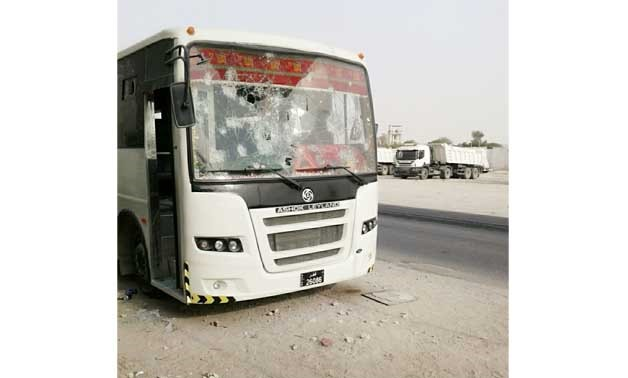 Buses damaged amid riots erupted in Qatar - photo obtained by Egypt Today