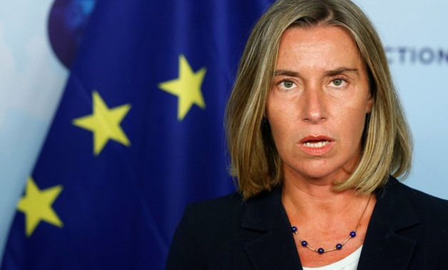 European Union foreign policy chief Federica Mogherini addresses a news conference after meeting Russian Foreign Minister Sergei Lavrov (not pictured) in Brussels, Belgium, July 11, 2017. REUTERS/Francois Lenoir