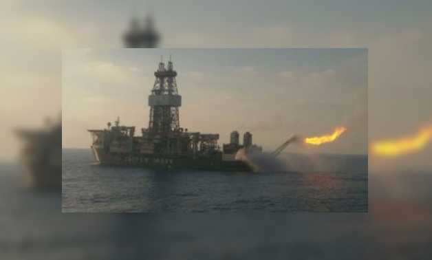 A gas flame is seen in the Zohr field – File Photo
