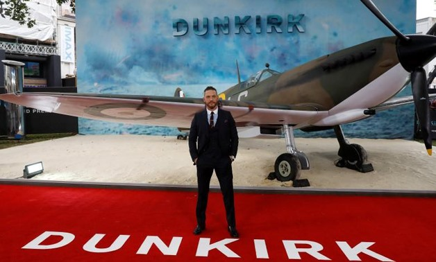 Actor Tom Hardy arrives for the world premiere of Dunkirk in London, Britain, July 13, 2017. Peter Nicholls
