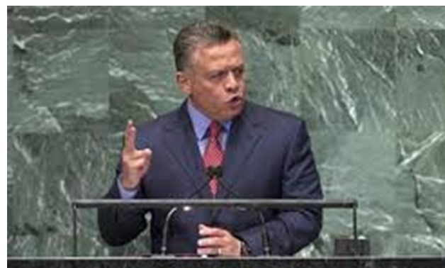 FILE- Jordan's King Abdullah II Bin Al Hussein addresses the 67th session of the United Nations General Assembly at UN headquarters in New York - REUTERS