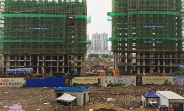 A construction site of residential buildings is seen in Bengbu, Anhui province, China July 9, 2017