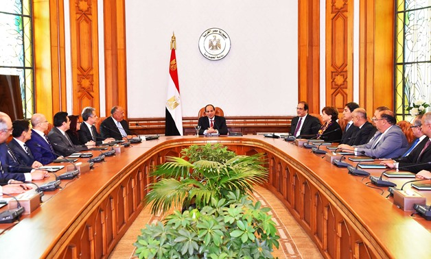 Sisi meeting with nominated ambassadors- File Photo