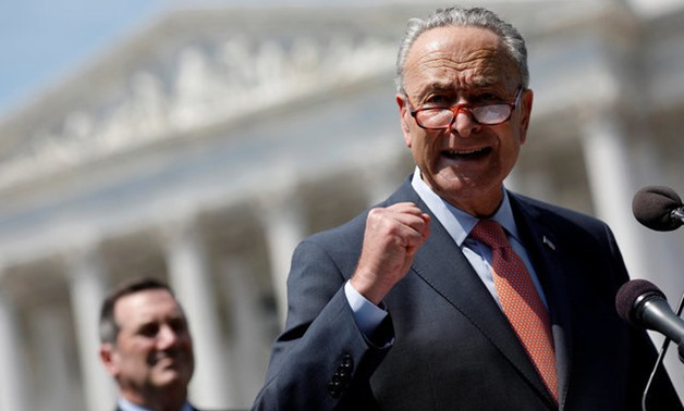 Senate Minority Leader Chuck Schumer speaks during a press conference for the Democrats' new economic agenda on Capitol Hill in Washington, U.S., August 2, 2017. REUTERS