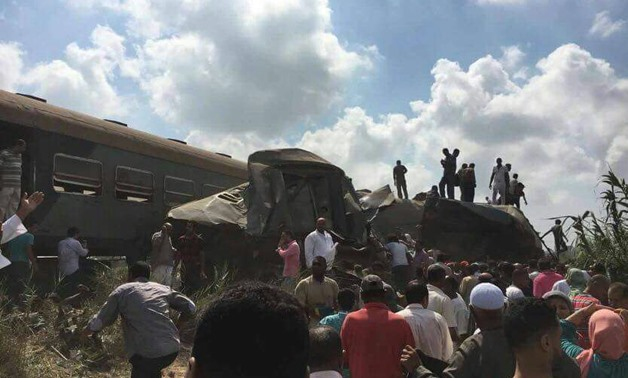 train collision in Alexandria