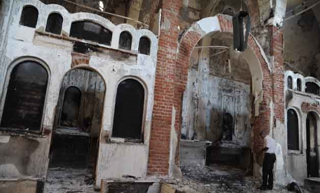 Saint Tadros Coptic Orthodox Church in Upper Egypt's Minya on Aug.22, 2013- File Photo