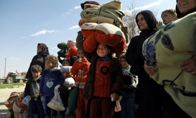 File- © AFP/File | Between January and the end of July, 602,759 displaced Syrians returned to their homes in Aleppo, many of them citing an improved economic and security situation in the areas they had fled from, the International Organization for Migrat