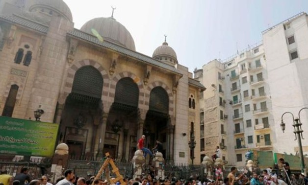 Fateh Mosque following Brotherhood clashes with police forces in August 2013 - Reuters