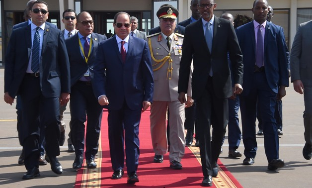 President Abdel Fatah al-Sisi during his visit Tanzania - Press Photo