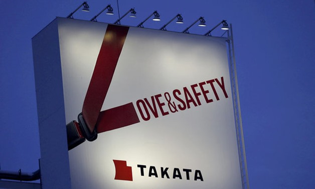 Billboard advertisement of Takata Corp is pictured in Tokyo - REUTERS
