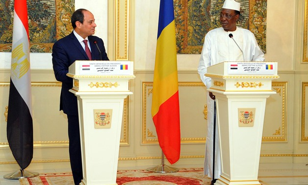 President Abdel Fatah al-Sisi holds a meeting with Chadian President Idriss Deby itno- File Photo