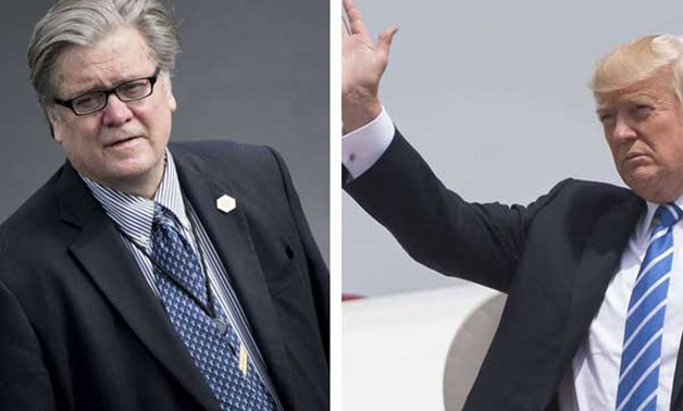 A combined picture of US President Donald Trump and strategist Steve Bannon. AFP PHOTOS