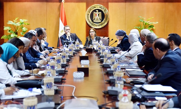 Minister of Investment Sahar Nasr met with committee undertaking Ease of Doing Business Report- Press Photo