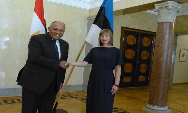 Egyptian Foreign Minister Sameh Shoukry is holding talks with Estonian counterpart Sven Mikser in Tallinn on August 22, 2017- Press Photo
