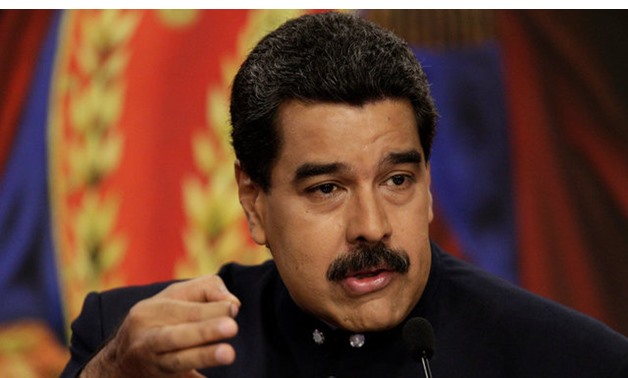 Venezuela's President Nicolas Maduro talks to the media during a news conference at Miraflores Palace in Caracas - REUTERS