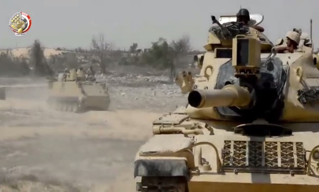 A footage from clip released by military forces on Facebook