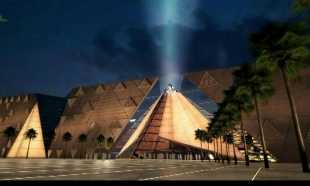 The Façade of the Grand Egyptian Museum-File Photo