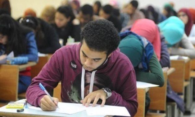 FILE – Students undergoing Thanaweya Amma exams