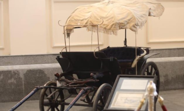 One of the Royal Carriages housed in the Royal Carriages Museum in Bulaq - Press photo