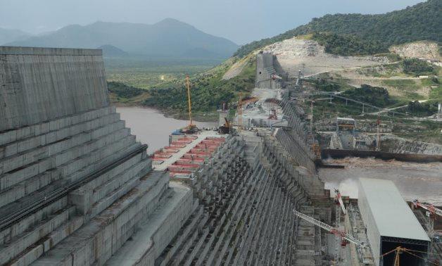 FILE - Ethiopia's Grand Renaissance Dam is seen as it undergoes construction work on the river Nile in Guba Woreda, Benishangul Gumuz Region, Ethiopia September 26, 2019. REUTERS/Tiksa Negeri