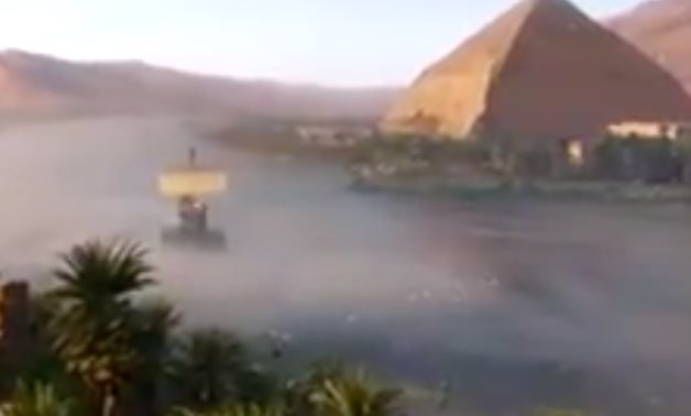 Screenshot from the video brought by the Egyptian Min. of Tourism & Antiquities - Official Facebook