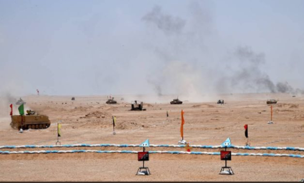 "The main branches of the Egyptian Armed Forces on Thursday carried out the ""Hasm 2020"" maneuver - Egyptian Army"