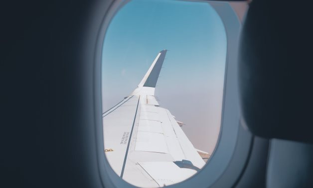 FILE – A plane wing seen from inside the plane – Sourav Mishra/Pexels