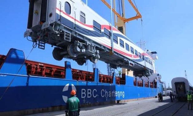 FILE - The second batch of the Russian railway vehicles are expected to dock at Alexandria Port on Friday night