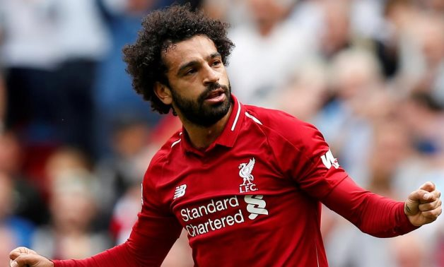 Liverpool v West Ham United - Anfield, Liverpool, Britain - August 12, 2018 Liverpool's Mohamed Salah celebrates scoring their first goal REUTERS/Andrew Yates