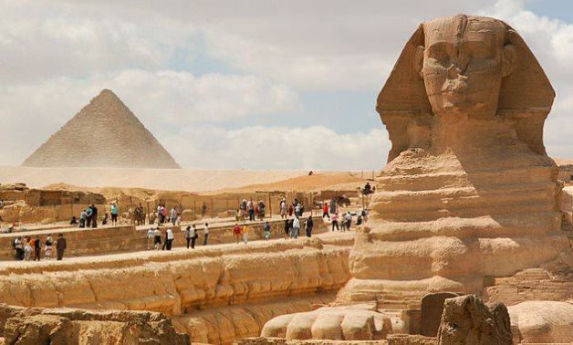 Great Sphinx of Giza (foreground) Pyramid of Menkaure (background). Cairo, Egypt, North Africa- Photo courtesy of http://mstyslav-chernov.com/