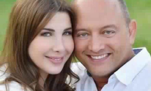 File- Nancy Ajram and her husband