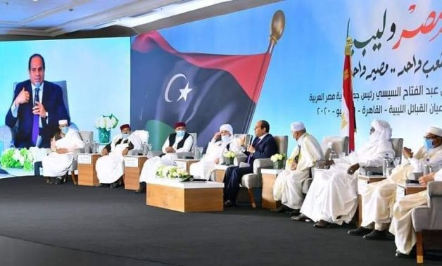 Meeting with Libyan tribal leaders, Egyptian President Abdel Fattah El Sisi on Thursday commented on possible Egyptian intervention in Libya – Press photo