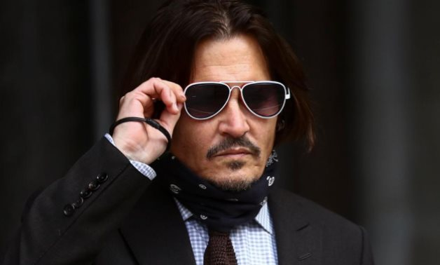 Actor Johnny Depp arrives at the High Court in London, Britain July 15, 2020. REUTERS/Hannah McKay