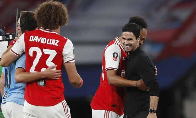 Mikel Arteta celebrate after the match, as play resumes behind closed doors following the outbreak of the coronavirus disease (COVID-19) REUTERS / Matthew Childs / Pool