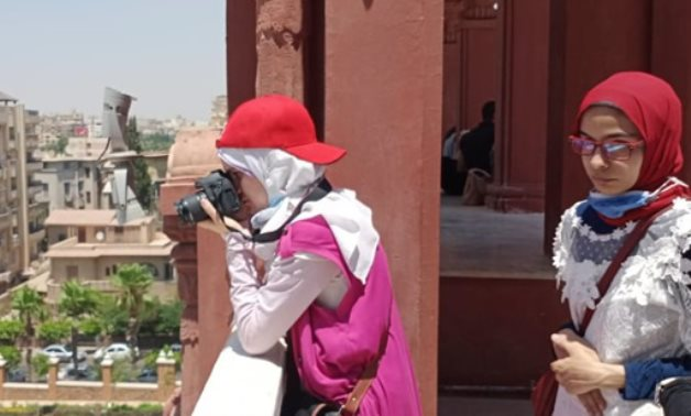 Visually-Impaired youth enjoying the tour to Baron Empain Palace in Heliopolis – Press photo