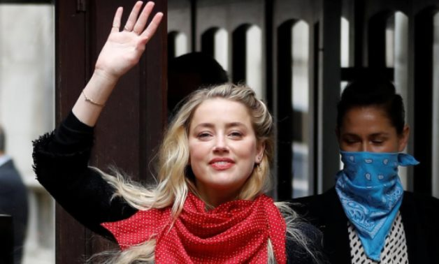 Actor Amber Heard arrives at the High Court in London, Britain July 23, 2020. REUTERS/Peter Nicholls